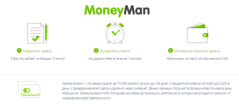 Микрозаймы moneyman отзывы